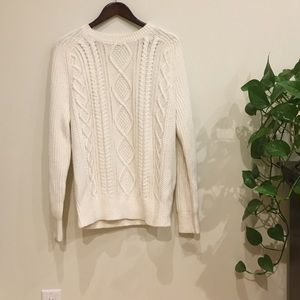 Banana Republic Knit white sweater size large